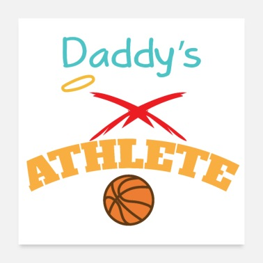 Gaveidé Basketball Daddy's Little Angel Athlete Gift - Poster