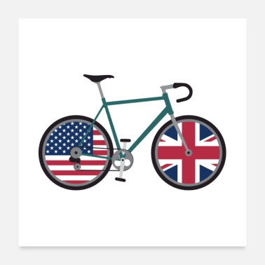 United Dual Citizen Cycling USA United Kingdom - Poster