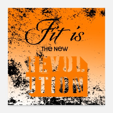 Maler Spruch Fit is the new Revolution - Motivation Poster - Poster