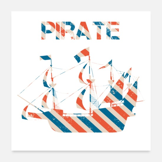 Gift Idea Posters - pirate - Posters white