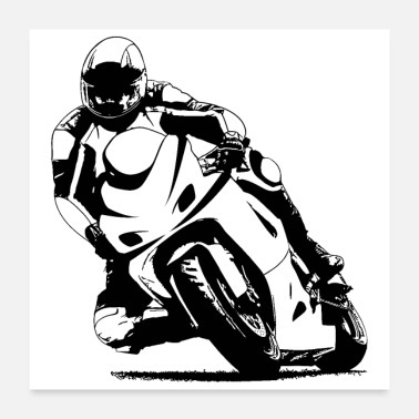 Racing Motorcycle motorcycle racing - Poster