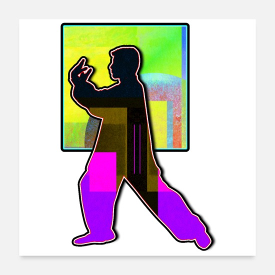 Loud Posters - Tai Chi Martial Arts Art Number Two - Posters white
