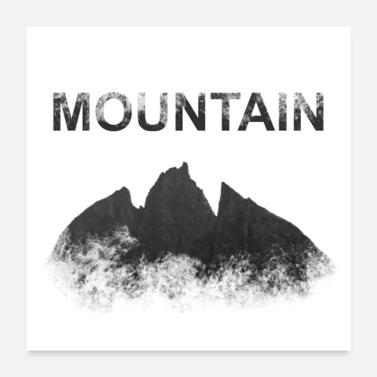 Alps Posters - Mountain, mountain - Posters white