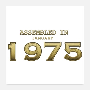Legend Assembled January 1975 - Poster