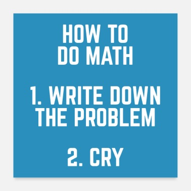 Wiskunde How To Math Funny Quote Poster - Poster