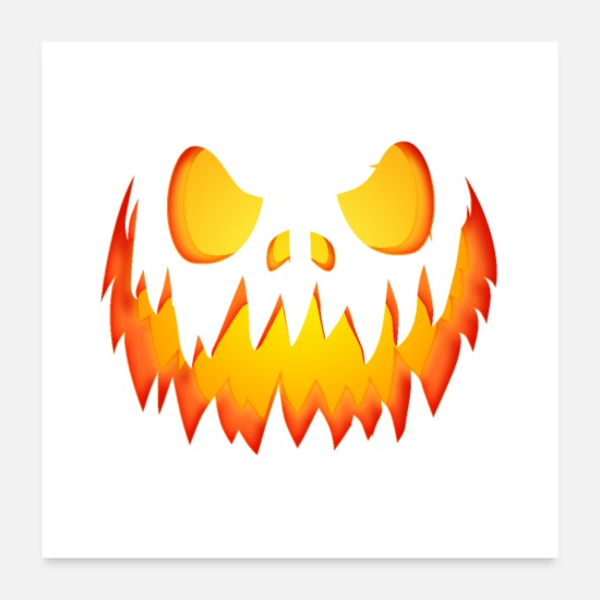 Magic Posters - Evil Pumpkin - Posters white
