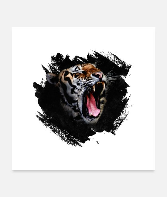 Big Posters - Tiger Roar - Posters white
