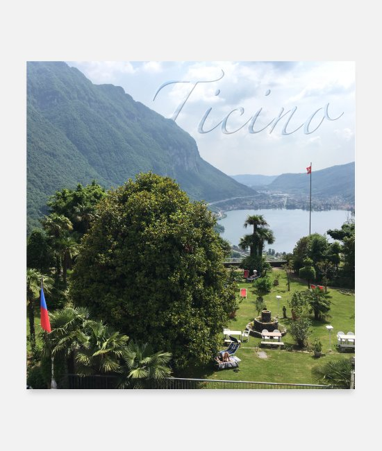 Garden Posters - Outlook - TICINO - Posters white