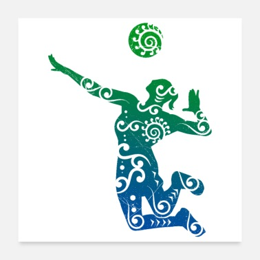 Volleyballbus Volleyball player Maori style gift idea - Poster