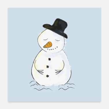 Tinker Relaxed snowman - Poster