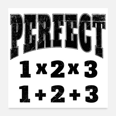 Husband Math Icons Perfect Number Funny Gift Idea - Poster