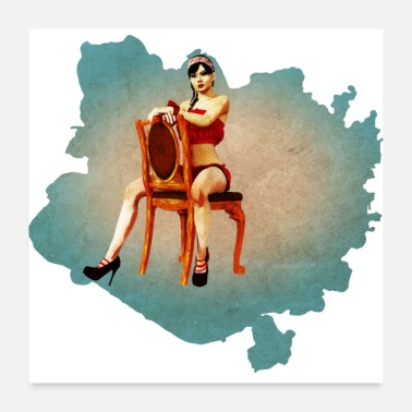 Pinup Vintage Pin-up Girl - Poster