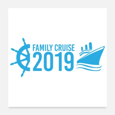 Cruise Ship Family Cruise 2019 cruise vacation gift idea - Poster