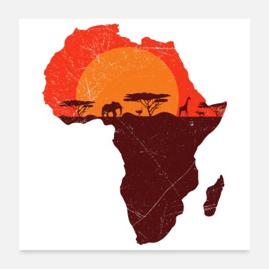 Sør Double Exposure Art Africa Safari Morsom gave - Poster