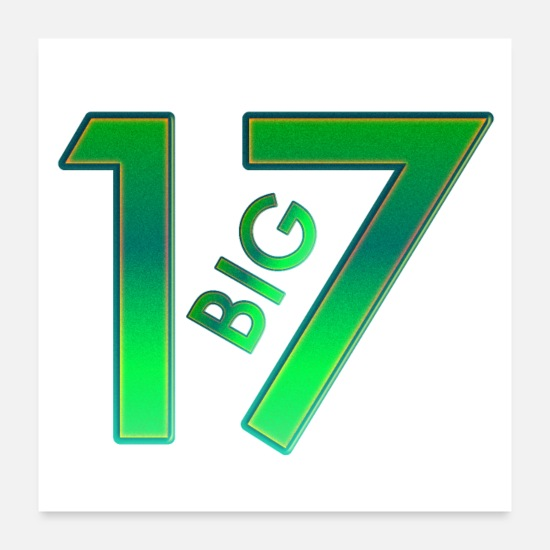 Birthday Posters - Big 17 - Posters white