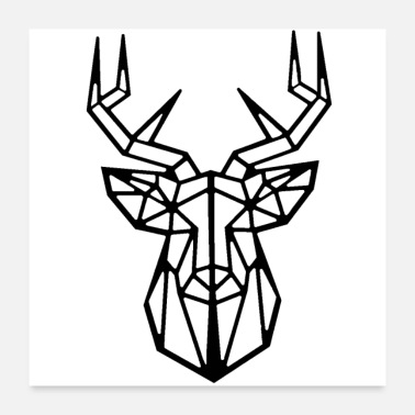 Polygon DEER DEER DEER DEER HEAD HUNTER - Poster