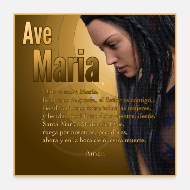 Spanish Hail Mary - Ave Maria - The prayer in Spanish - Poster