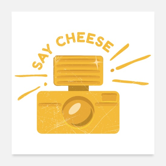 Gift Posters - Cheese Say Cheese Fotograaf Grappig geschenk - Posters wit