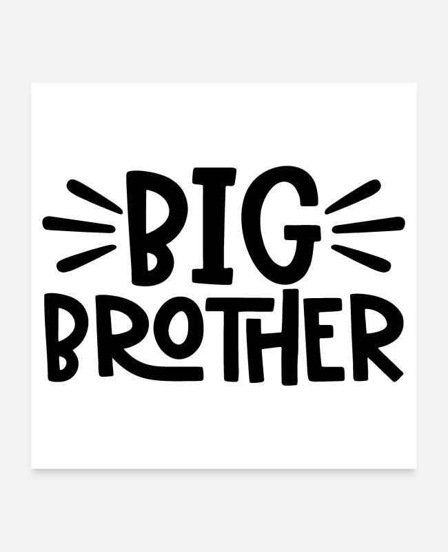 Big Posters - big brother vintage distressed cool gift - Posters white