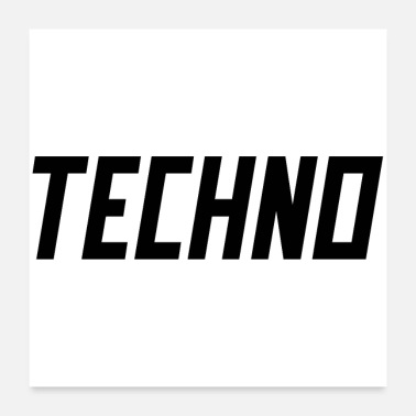 Techno TECHNO - Juliste