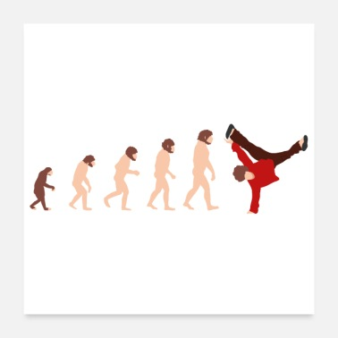Breakdance Evolutie Breakdance Grappig geschenkidee - Poster