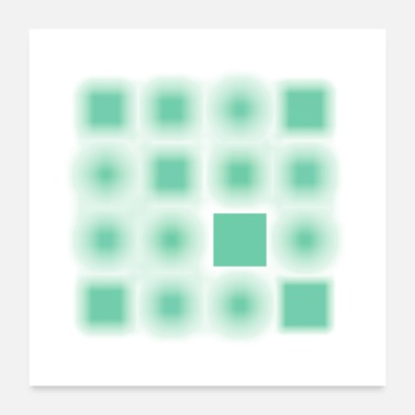 Quadrat Focused series squares mint - Poster