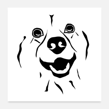 Cute dog face as a poster - funny and funny - Poster