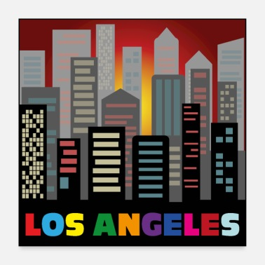 Los Angeles Los Angeles Illustration - Poster