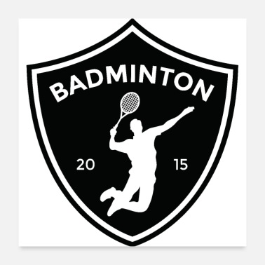 Association Badminton sport fitness - Poster