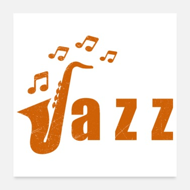 Instrument Music jazz saxophone gift idea - Poster
