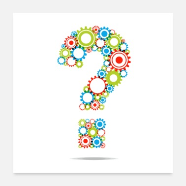 Mechanical Creative Abstract Question Mark - Poster