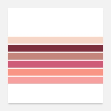 Minimal Art - Biking Red and Pink Stripes - Poster