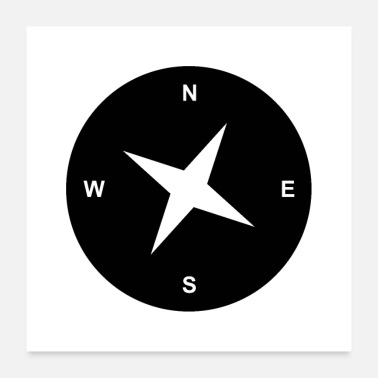 West Berlin north west compass style - Poster