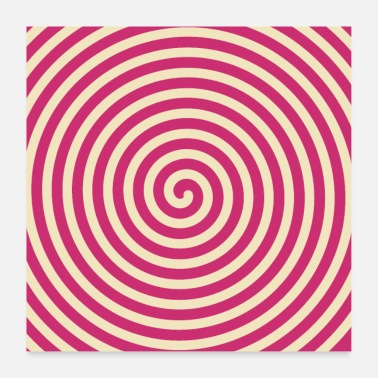 Geometrie Optical Art - Pink - Spirale - Poster