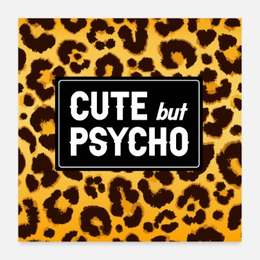 Cute But Psycho sexy mask face mask cute but psycho gift - Poster