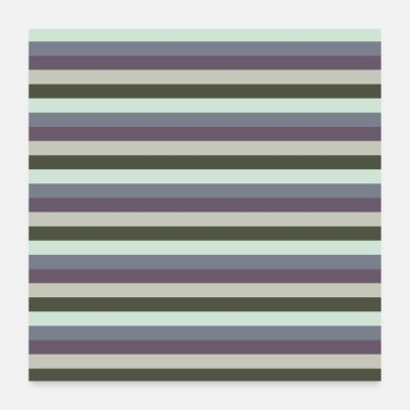 Strip Stripe Pattern Stripe Pattern Stripe Violet Bleu - Poster