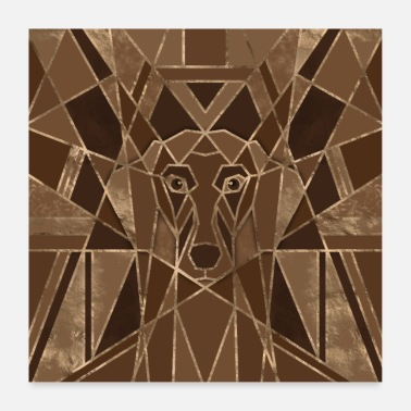 Art Art Deco Dachshund dog - Poster