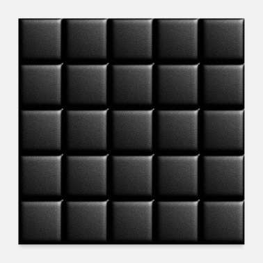 Decepticon Black synthetic leather tiles - Poster