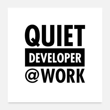 Open Quiet - Developer @ Work - Poster