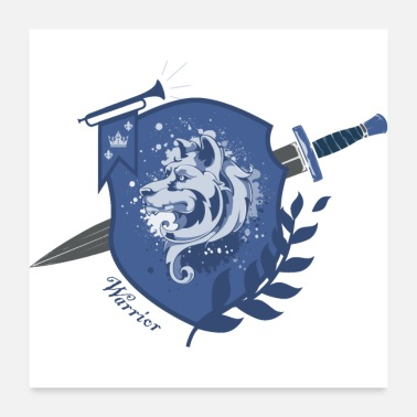Warrior DogWarrior - Warrior - blue - Poster