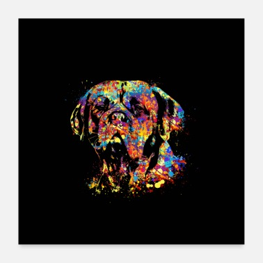 Bordeaux Colorful Dogue de Bordeaux - Poster