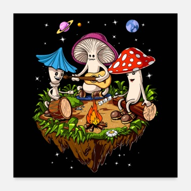Party Magic Mushrooms Party - Poster