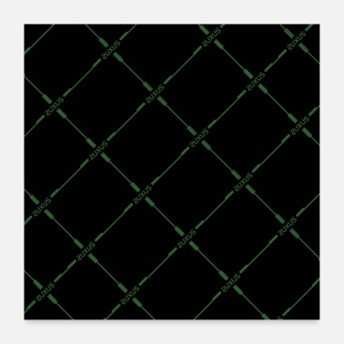 Wealthy SUXUS grid green - Poster