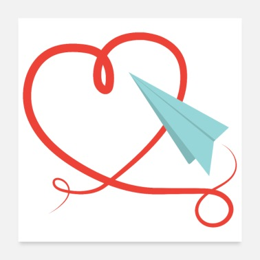 Mothers Paper airplane love origami pilot kids gift - Poster