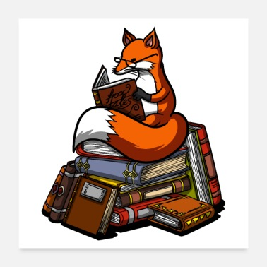 Read Fox Reading Book - Poster