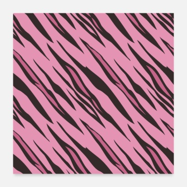 Couleur Animale Motif tigre rose - Poster