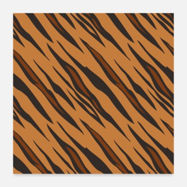 Couleur Animale Motif tigre - Poster