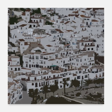 Village White village in Andalusia - Poster