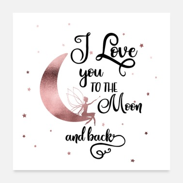 Elfe i love you to the moon and back! Elfe Mond Sterne - Poster