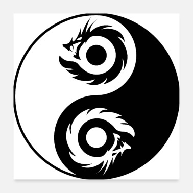 Tao Dragon Yin Yang (2 Dragons) - Poster